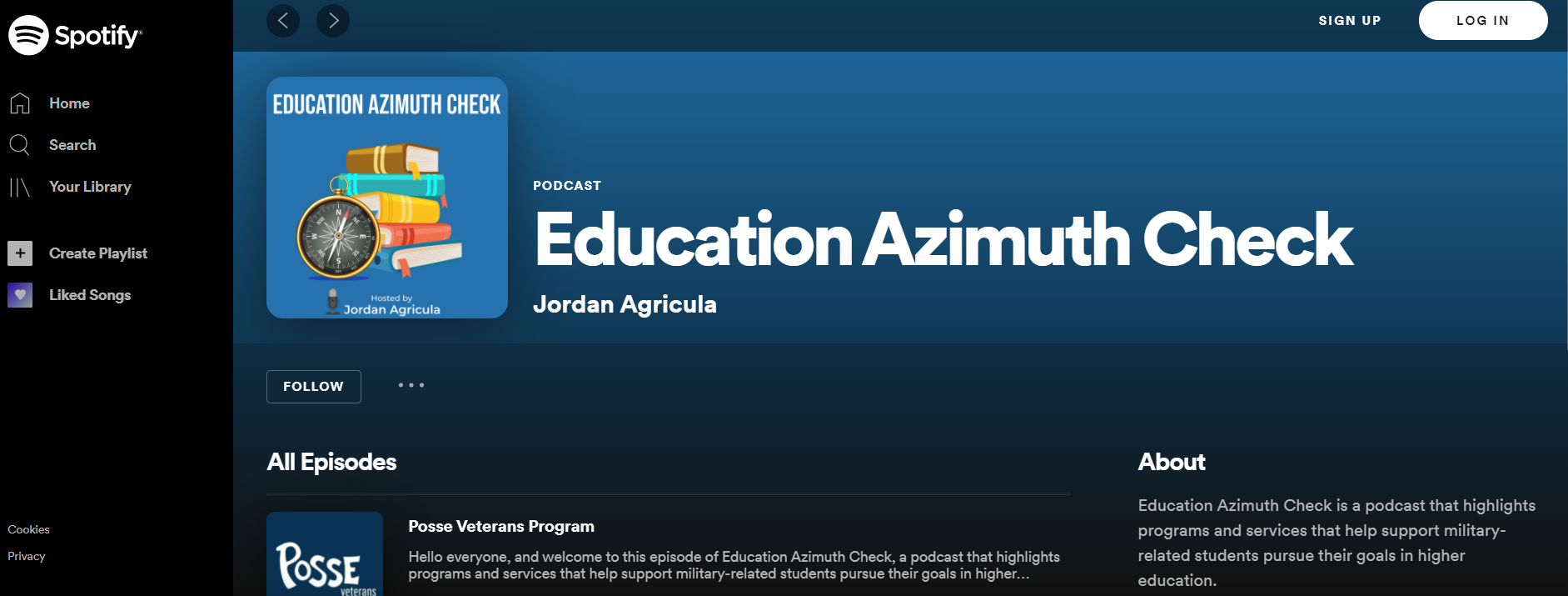 Education Azimuth Check on spotify by Jordan Agricula '21